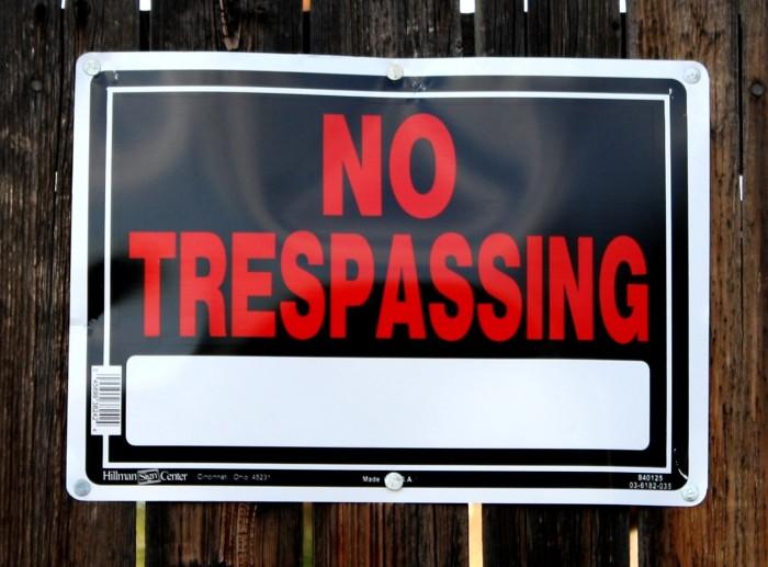 notresspassing